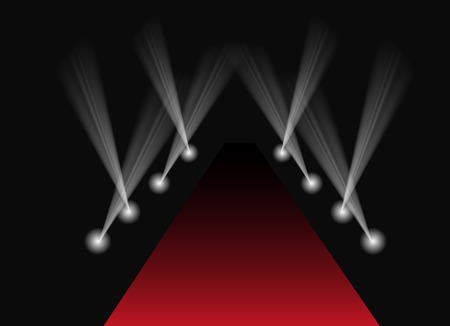 Red carpet spotlights background