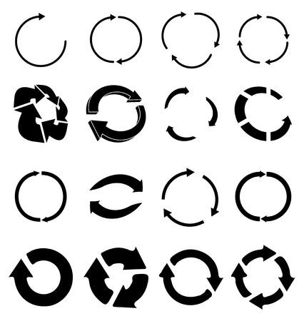 Reload refresh icons set Ilustração
