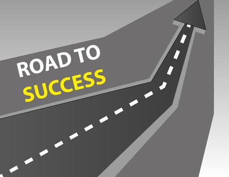 성공 배경에 도로 일러스트