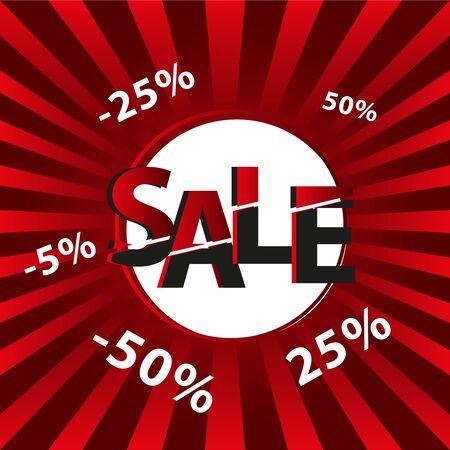 Sale tags background Ilustração