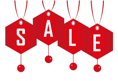 Christmas Sale tags background