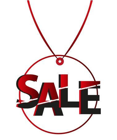 Sale tags background Illustration