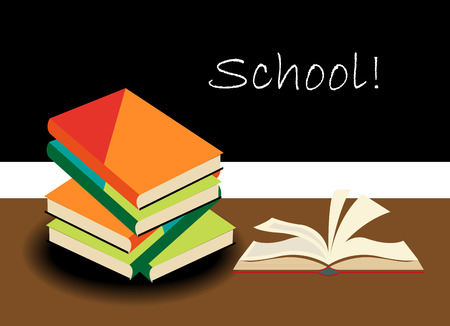 school books background Banco de Imagens - 37451306