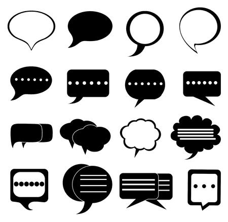 Chat bubbles icons set