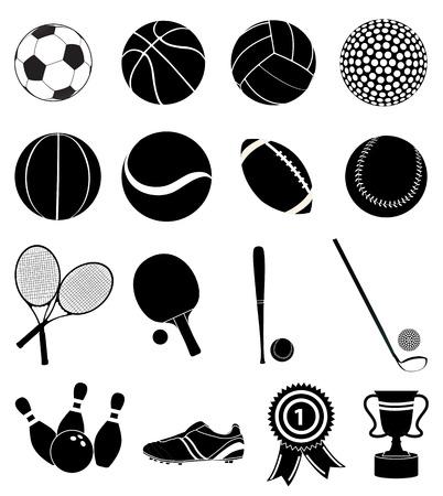Sports icons set Illustration
