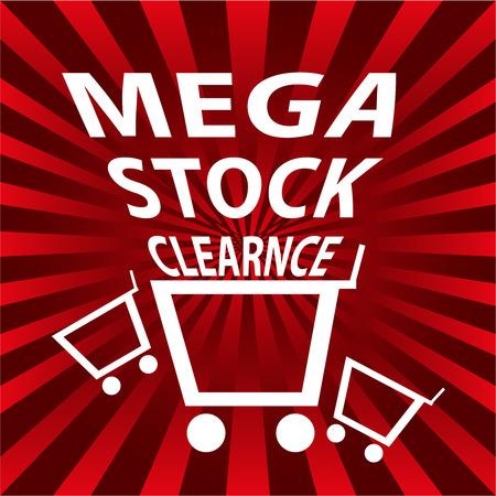 mega stock clearance background Banco de Imagens - 37451339
