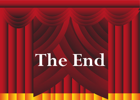 The end theater curtains