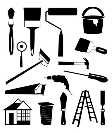 House repair icons set Illustration