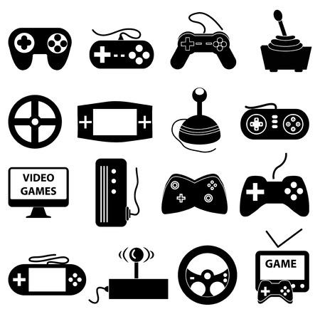 jeu: Divertissement icons set