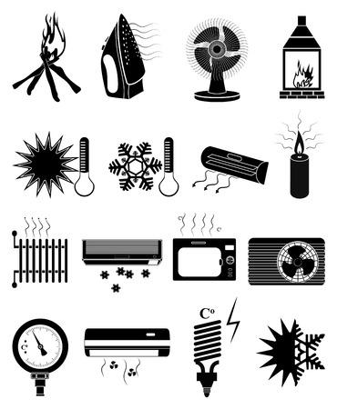 ventilation icons set Illustration