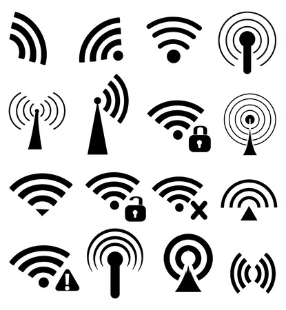 wireless signal: Wireless icons set