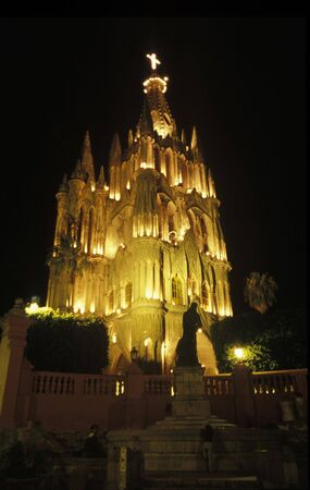 focal point: The Parish Church of San Miguel de Allende is the focal point of the City day and night.