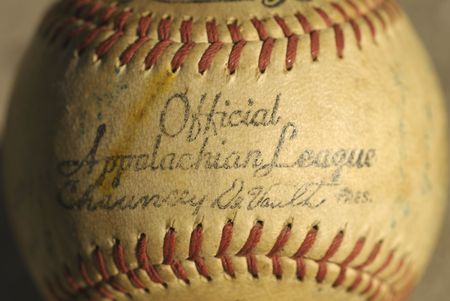 majors: Antique Appalachian League Baseball from the 1950s pro baseball minor leagues.