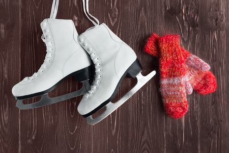 mittens: Skates for figure skating and mittens