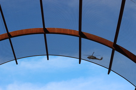 covering: shade covering and helicopter