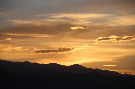golden: golden sunset Stock Photo