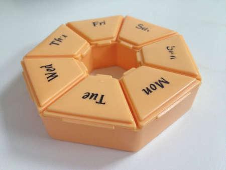 Orange color pill box