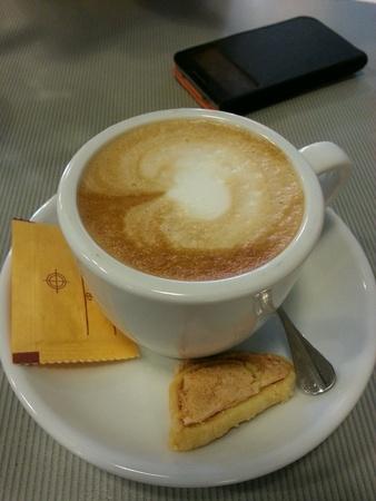 Tea break with cuppuccino.