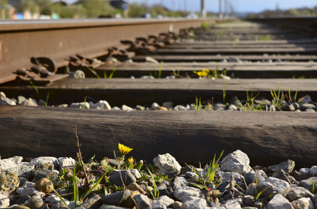 distance: the old railway stretches into the distance