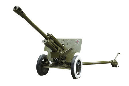 122 -mm howitzers (M - 30 ) of the Soviet army in 1942 sample . It was used during the Second World War Editorial