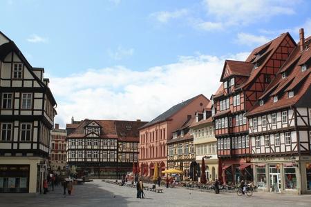 half-timbering house,Quedlinburg,Germany