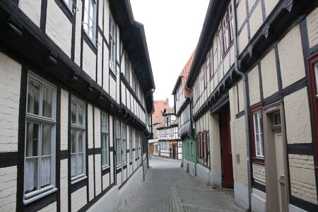timbering: half-timbering house,Quedlinburg,Germany