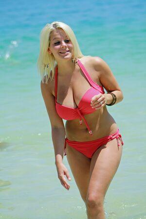 girl in red bikini,Gran Canaria,Spain