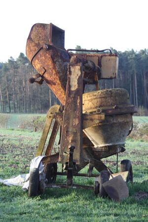 maschine: concrete mixer,Cadolzburg,Germany