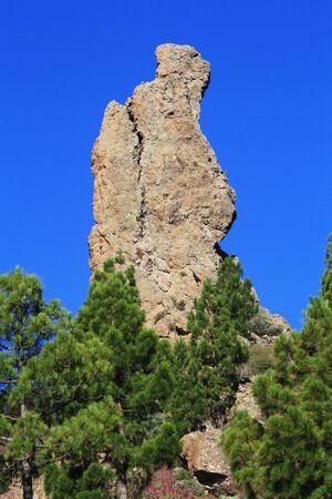 gran canaria: Roque Nublo, Gran Canaria, Spanje Stockfoto