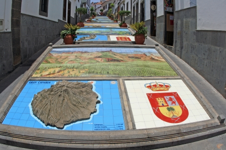 gran: Firgas,Gran Canaria,Spain Stock Photo