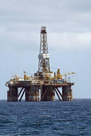petroluem: oil platform, Gran Canaria, Spain