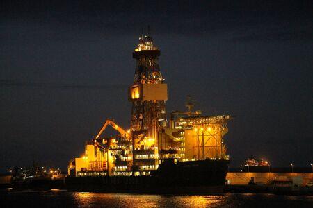 petroluem: Oil Drilling, Gran Canaria, Spain Stock Photo