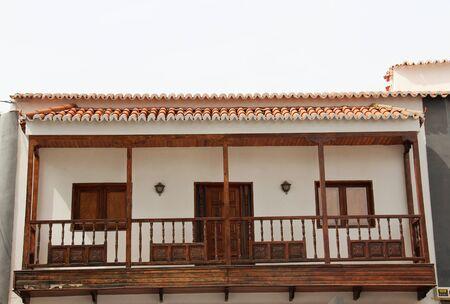 wooden balcony, San Bartolome, Gran Canaria Reklamní fotografie - 47747443