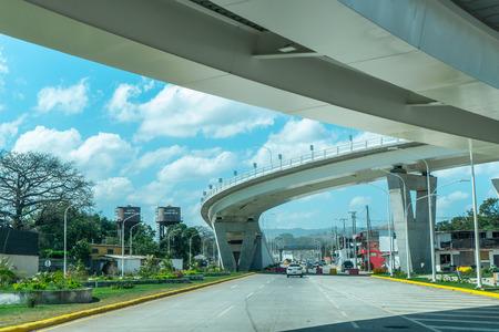 7 sur bridge in Managua, Nicaragua Editorial