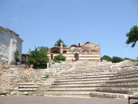 Remains of an ancient amphitheater. Bulgaria. Nessebar