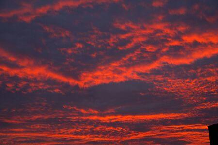 crimson: The crimson sky on a sunset