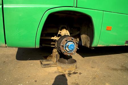 jack tar: brake repair the bus on the road