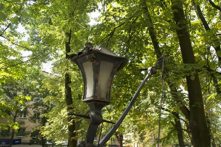 certain: The old lighting a lantern of bronze