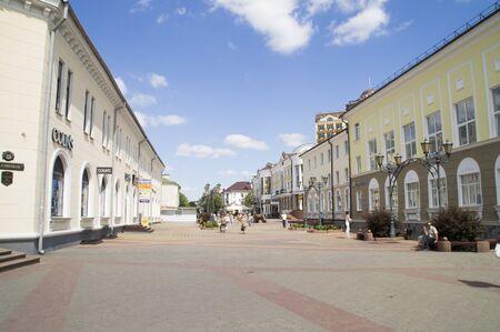 pedestrian: Pedestrian street in the city of Brest. Belarus