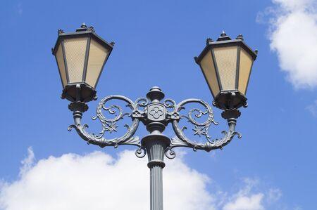 Street lighting lantern with 19th-century style