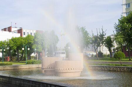 jet fountain on a hot day Фото со стока - 89527999
