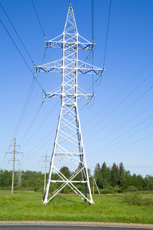 support high-voltage power lines