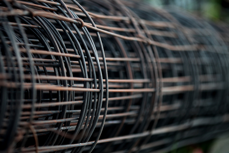 Steel bar for construction , close up texture background