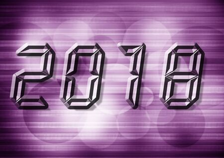 2018 word vector with vilolet background