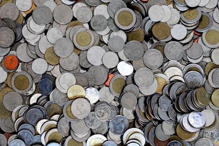 Thai baht coin , texture background , many Thai baht coin