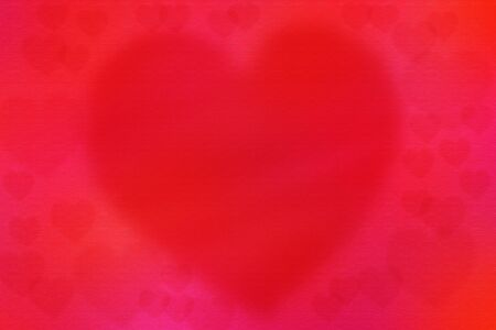 Red heart texture background with paper texture , blur