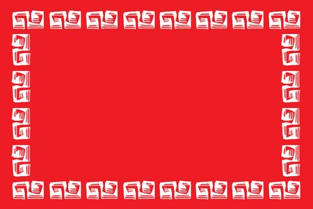 Red Chinese New Year Frame texture background , White Chinese brush Frame