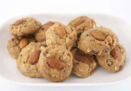 The scrumptious traditional almond choccolate chip cookies photo
