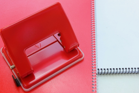 puncture: Notebook paper with puncture