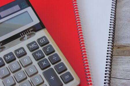 Notebook with calculator Stock Photo - 16217734